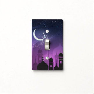 Arabian Nights Moroccan Middle Eastern Purple Light Switch Cover