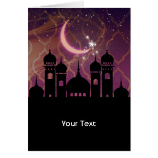 Arabian Nights Moroccan Middle Eastern Thank You Card