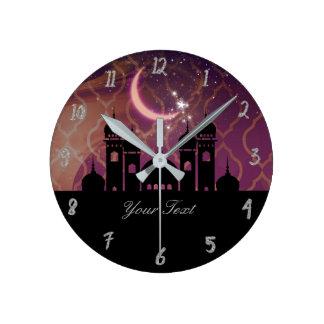 Arabian Nights Moroccan Personalized Round Clock