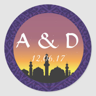 Arabian Nights Round Stickers Label