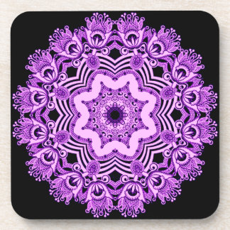 Arabian Purple Lace coaster