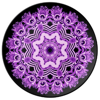 Arabian purple Lace plate Porcelain Plate