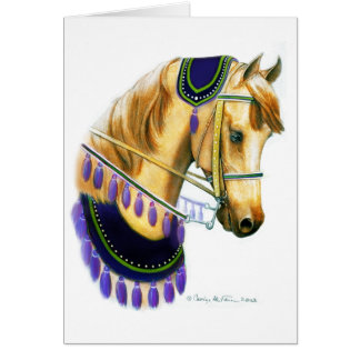 Arabian Show Horse in Costume Card