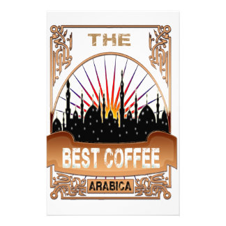 Arabian The best coffee coffee Personalized Stationery