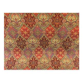 Arabic Carpet Design Postcard
