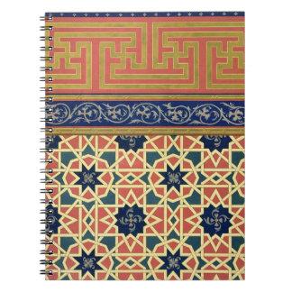 Arabic decorative designs (colour litho) note book