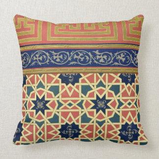 Arabic decorative designs (colour litho) throw pillow