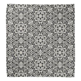 Arabic floral pattern bandanna