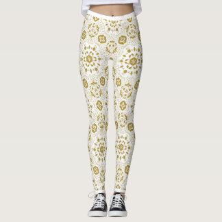 Arabic golden lace | Flower motif Leggings