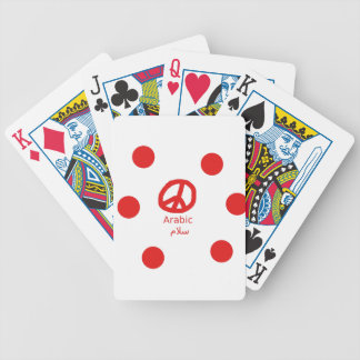 Arabic Language And Peace Symbol Design Bicycle Playing Cards