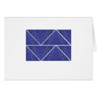 Arabic Ornaments blue. Original design Card