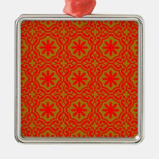 Arabic Silver-Colored Square Ornament