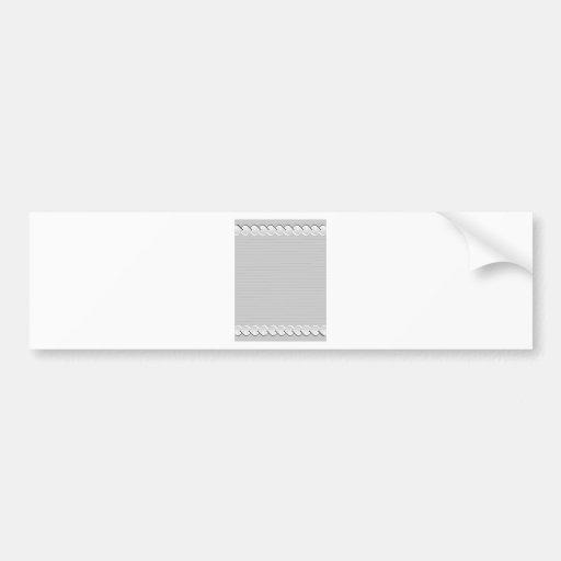 Arabic Style Border Frame Design Bumper Sticker