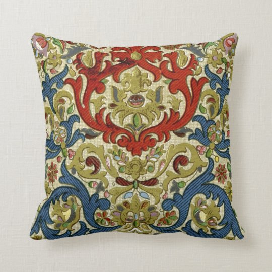 Arabic Style Pattern Throw Pillow