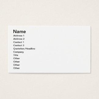 Arabic tile designs (colour litho) business card