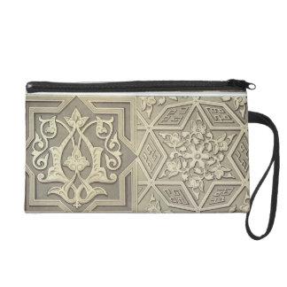 Arabic tile designs (colour litho) wristlet purses