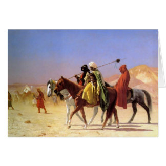 Arabs Crossing the Desert by Gerome Greeting Card