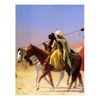 Arabs Crossing the Desert by Jean-Leon Gerome Postcard