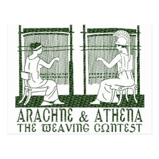 Arachne vs. Athena Postcard