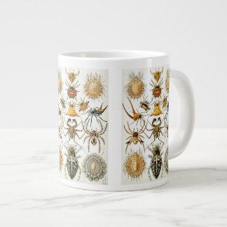 Arachnids by Ernst Haeckel, Vintage Spiders Giant Coffee Mug