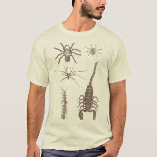 Arachnophobia! Spiders & Scorpions Front and Back! T-Shirt