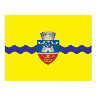 arad city flag romania symbol postcard