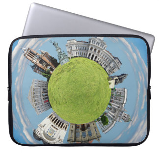Arad city romania tiny little planet landmarks arc laptop sleeve