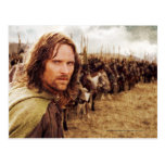 Aragorn Plus Line of Horses Postcard