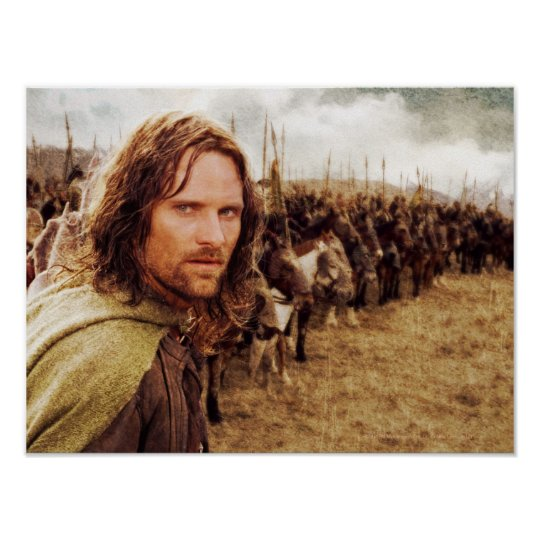 Aragorn Plus Line of Horses Poster