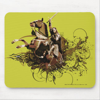 Aragorn Riding a Horse Vector Collage Mouse Pad