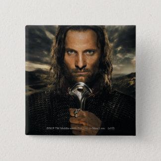 Aragorn Sword Down 2 Inch Square Button