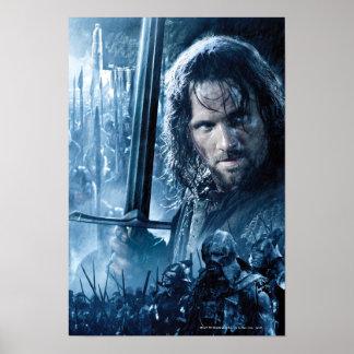 Aragorn Versus Orcs Poster