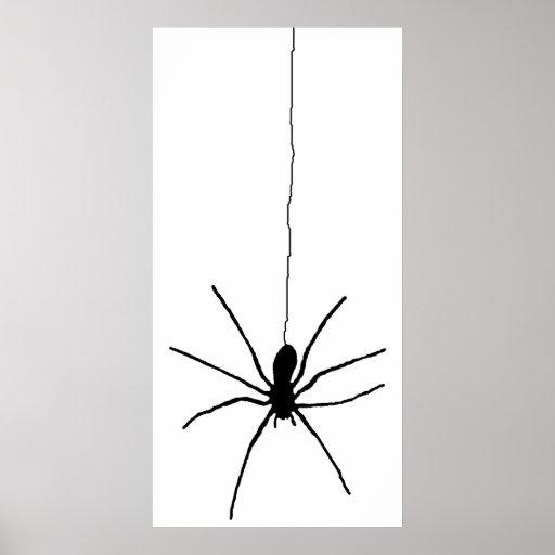 Araignée accrochante affiches