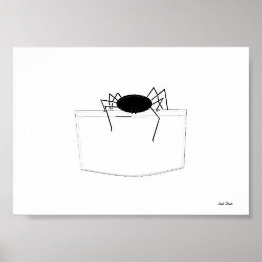 Araignée dans une poche posters