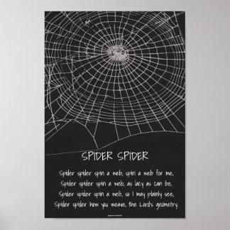 Araignée d'araignée poster