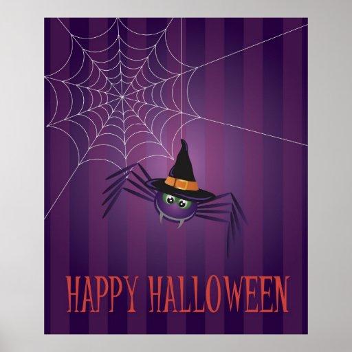 Araignée de Halloween avec l'affiche de Web