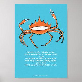 Araignée de mer, affiche de l'araignée de mer A4