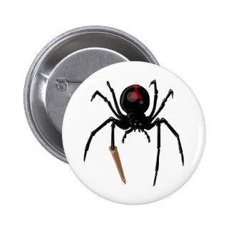 araignée de veuve noire pin's