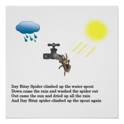 Araignée d'Itsy Bitsy Posters