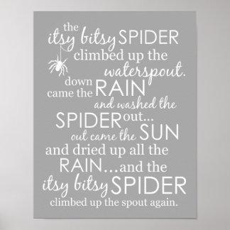 Araignée d'Itsy Bitsy Poster