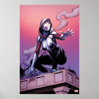Araignée-Gwen sur le dessus de toit