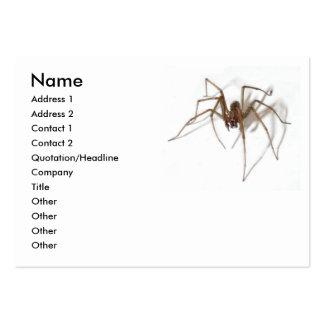 Araignée heureuse de partie de Halloween Modèles De Cartes De Visite