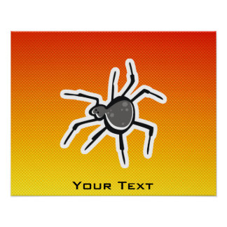 Araignée mignonne ; Jaune-orange