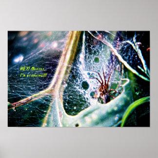 Araignée sans Muffet Affiches