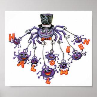 Araignées de Halloween Poster