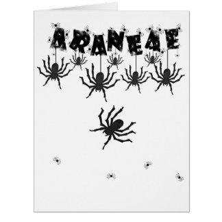 """ARANEAE"", Creepy Crawly Halloween Typography Big Greeting Card"