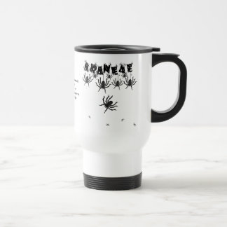 """ARANEAE"", Creepy Crawly Halloween Typography 15 Oz Stainless Steel Travel Mug"