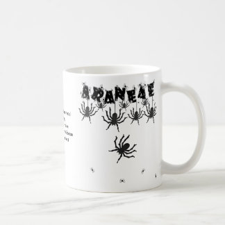 """ARANEAE"", Creepy Crawly Halloween Typography Classic White Coffee Mug"