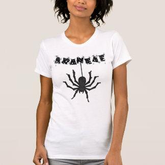 """ARANEAE"", Creepy Halloween Typography T-shirt"