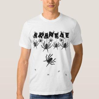 """ARANEAE"", Creepy Halloween Typography T Shirts"
